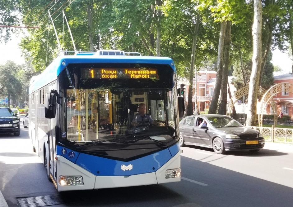 A contract for the supply of 100 trolleybuses in Dushanbe