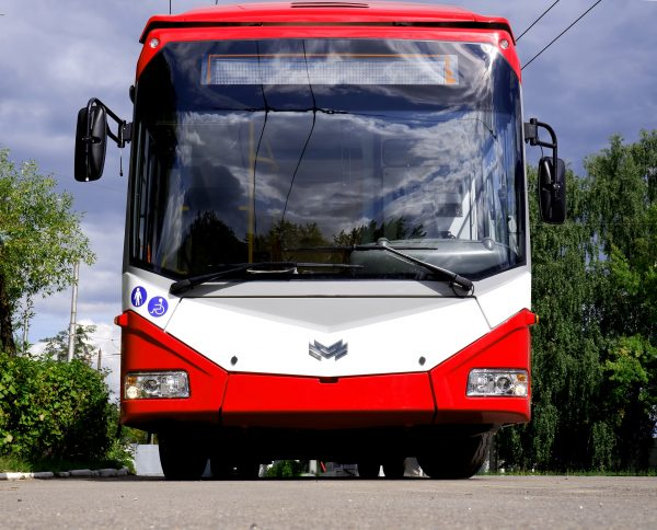 The first Belkommunmash trolleybus in Ivano-Frankivsk